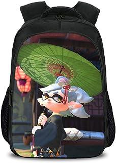 Bag Set Mochila Escolar Infantil Splatoon 3D Impresa Mochilas para NiñOs Y NiñAs Mochilas Escolares 6-12 AñOs E-16inch