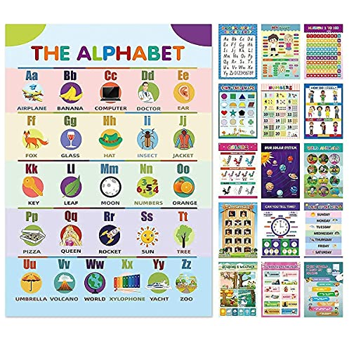16 Preschool Toddlers  Alphabets Numbers  Educational Posters  Sheets Glue Point Dot  School Supplies  Kindergarten Early Learning Activities  Daycare  Teacher Classroom Decor  Homeschooling  1612in