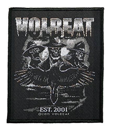 Volbeat Aufnäher - Outlaw Raven -(SP2808) Volbeat Patch - Gewebt & Lizenziert !!