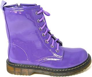 d8b8922624123 Ladies Vintage LACE UP Zip Patent Womens Ankle HIGH Boots Punk Combat Size  3-8