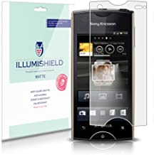 iLLumiShield Matte Screen Protector Compatible with Sony Ericsson Xperia Ray (3-Pack) Anti-Glare Shield Anti-Bubble and An...