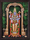 Lord Venkateswara, Venkataramna Govinda Known as Balaji and Incarnation of Vishnu, A Religious Poster Painting for Wealth. Prosperity and Good Luck at Home/Work Place