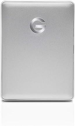 G-Technology 4TB G-DRIVE Mobile USB-C (USB 3.1 Gen 1) Portable External Hard Drive, Silver- 0G10348