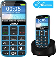 Mosthink Unlocked Cell Phones for Seniors, Compatible AT&T Cell Phone for Elderly, Basic Phone for Seniors, SOS Senior Phone Big Button Big Volume, Charging Dock Included