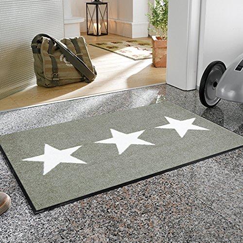 クリーンテックス ジャパン wash+dry薄型で丈夫な洗える玄関マット Stars sand 50×75cm 1枚 [7819]