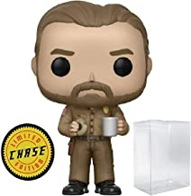 Funko Stranger Things - Chief Hopper with Donut Limited Edition Chase Pop! Vinyl Figure (Includes Compatible Pop Box Protector Case)