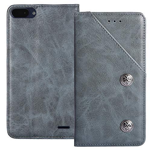 YLYT Flip Blue Schutz Hülle Hülle Für Archos Core 55S 5.45 inch Etui Leder Tasche Handyhülle Hochwertiges Stoßfeste Kartenfach Cover