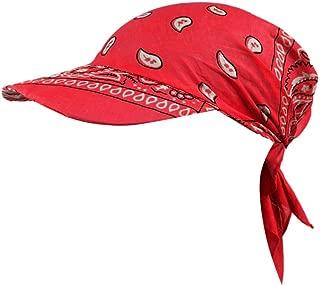 JESPER Women India Muslim Retro Floral Cotton Towel Cap Brim Turban Baseball Hat Wrap