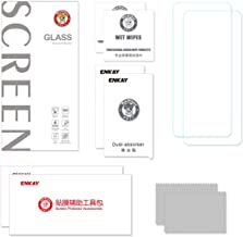ENKAY 2pcs 2.5D 0.26mm 9H Tempered Glass Protective Film Arc Edge Film Dirtproof for Motorola P40