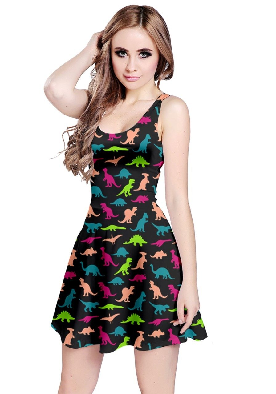 Available at Amazon: CowCow Women's Dinosaur Tyrannosaurus Stylish Party Summer Sleeveless Dress XS-5XL