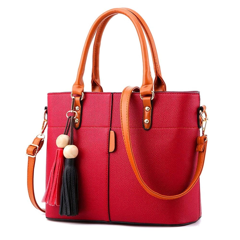 TDLJSVZE 韓国のスウィートファッションハンドバッグメッセンジャーショルダーバッグ大容量クロスボディバッグ (Color : Winered)
