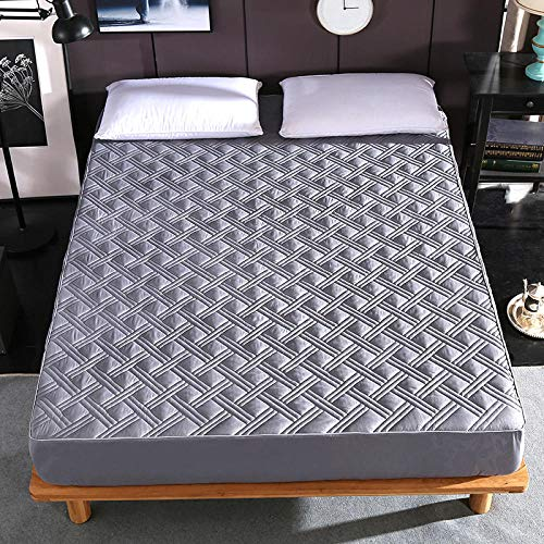 JRDTYS Ultra Soft Hypoallergenic Microfiber Quilt Cover SetsHotel cotton protective sleeve thickened and non-slip-Elegant gray_120*200