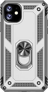 VoguSaNa Kompatible f/ür Handyh/ülle iPhone 11 H/ülle Silikon Case Hybrid Cover Tasche Schutzh/ülle Handytasche Skin Ring Socket St/änder Schale Bumper Etui mit Auto Halterungen Kickstand-Silber