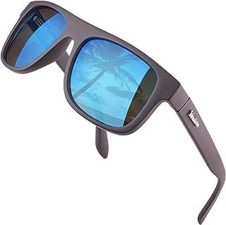 Verdster - Islander – Gafas de Sol Clásicas de Espejo Anchas para Hombre & Mujer – Gafas de Sol Anchas a la Moda – Accesorios Incluidos
