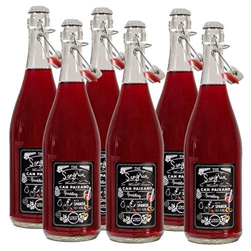 Sangria de Barcelona von Can Paixano | Das Original aus der Cocktail-Bar La Xampanyeria in Barcelona | Fruchtig-süßes Partygetränk | Spar-Set mit 6 Flaschen