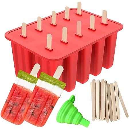 100PCS EissäCke mit Trichter DIY Popsicle Maker Ice Sucker Maker Eismaschin K6P1