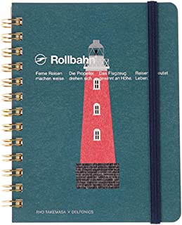 ロルバーン Rollbahn × 武政諒 ポケット付きメモ ノート Mサイズ (C 灯台)