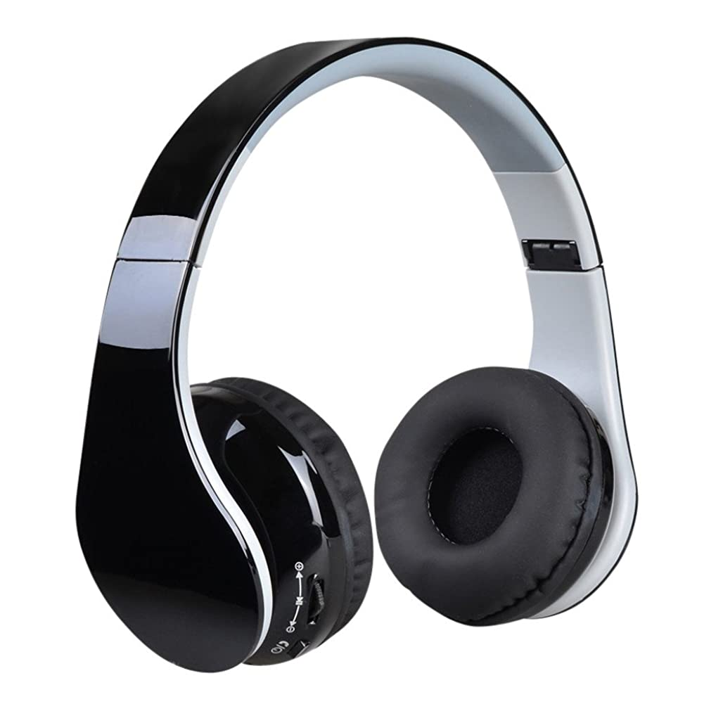 コマンド濃度切断するヘッドフォン [COOLEAD] ヘッドホン Bluetooth 密閉型 3.5mmオーディオ ステレオ CD高音質 無線 有線可能 ヘッドセット ブラック