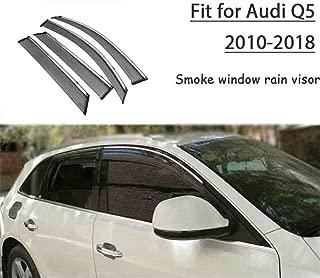 Audi Q3 Fumée Teintée Vent Déflecteurs pare-Set de 4 avant et arrière 2011 Sur