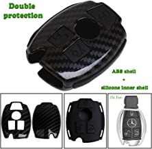Keyless4U 3 Buttons Key Fob Cover Remote Case Protector For Mercedes-Benz A C E S CLASS SLK CL (Black)