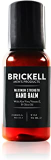 Brickell Men's Maximum Strength Hand Lotion for Men, Natural and Organic Fast-Absorbing Hand Lotion with Vitamin E, Shea Butter, and Jojoba, 2 Ounce, Scented