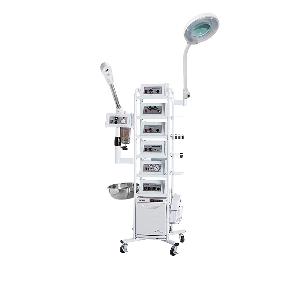 16 In 1 T5 Facial Machine Aromatherapy Ozone Flass Jar Steamer, Patented Microdermaberasion Skin Care Equipment.TLC-16-IN-1-T5-eMarkBeauty