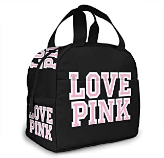 Victoria Secret Love Pink Portable Insulated Lunch Bag Waterproof Tote Bento Bag Lunch Tote