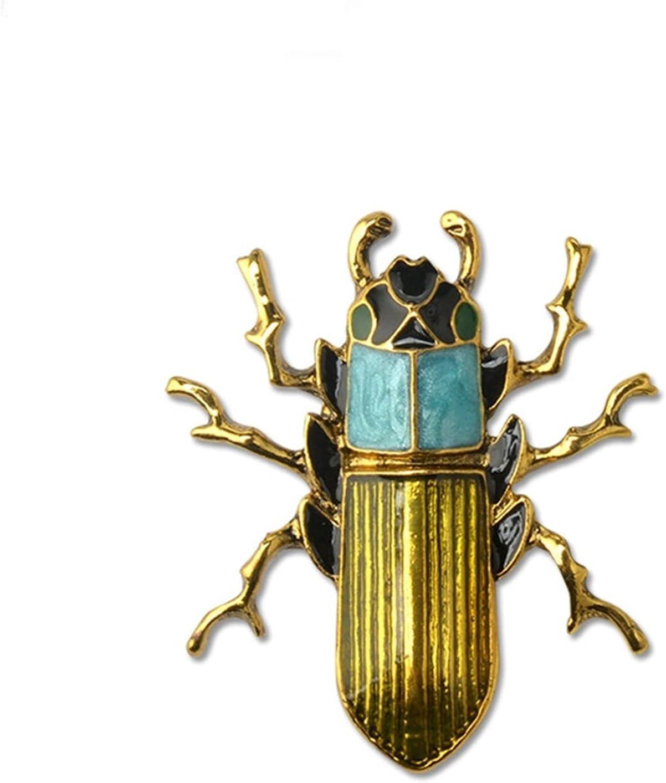 YSJJXTB Brooch 55% OFF Gold Alloy List price for Retr Cockroach Broaches Men