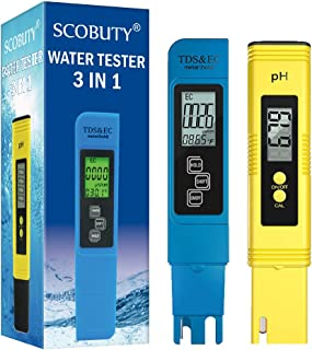 Water Quality Test Meter,Digital Ph Pen Meter,TDS Meter Digital Water Tester,3 in 1 TDS Meter, EC Meter and Temperature, I...