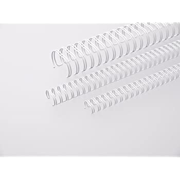 23 Schlaufen 2:1 Teilung silber RENZ Draht-Bindeelemente =DIN A4 Ø 19,0 mm