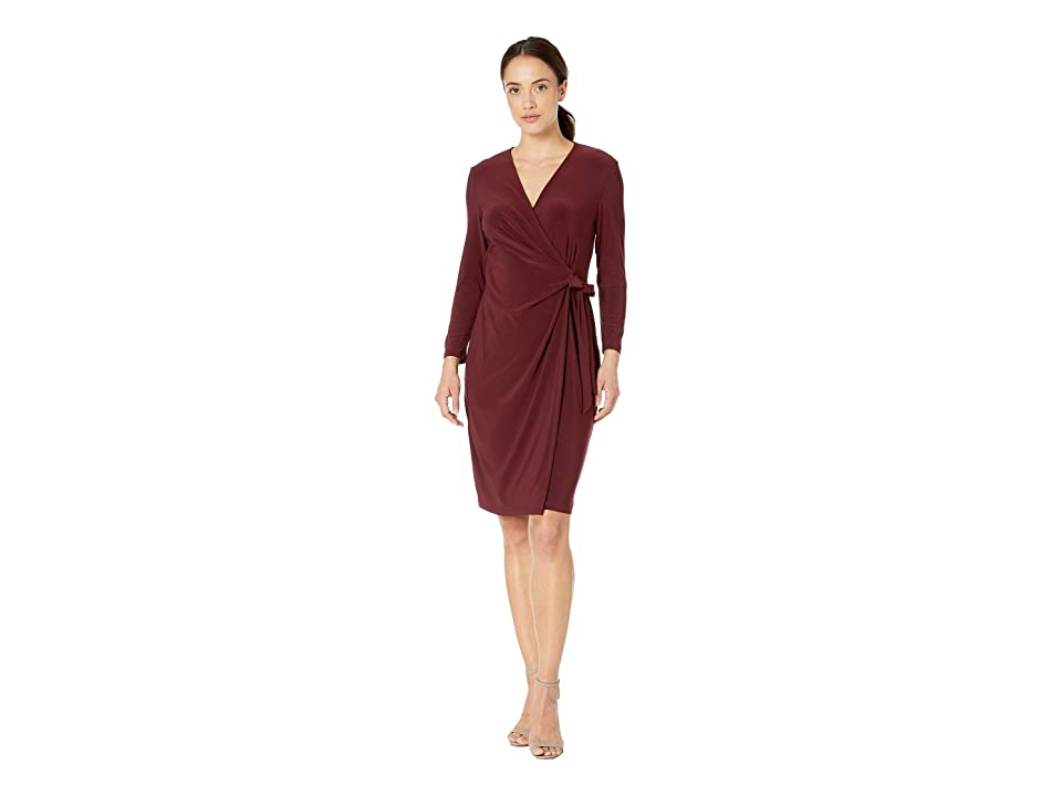 Anne Klein Solid Wrap Dress (Troubador) Women