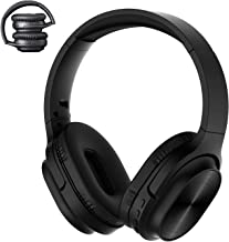 NENRENT S3 Wireless Bluetooth Headphones Over Ear with Mic, 7 Sound Models,FM Radio,Tf Card MP3 Mode,60 Hrs Playtime,Foldable Wire/Wireless Stereo Headset for Phone PC TV