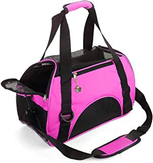 ZaneSun Cat Carrier,Soft-Sided Pet Travel Carrier for Cats,Dogs Puppy Comfort Portable Foldable Pet Bag Airline Approved (...