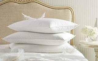 """Jewear Imported 100% Cotton White Fluffy Soft Sleeping 50/50 Goose Down & Feather Pillow Size 20"""" X 36"""" Set of 1 Pcs."""