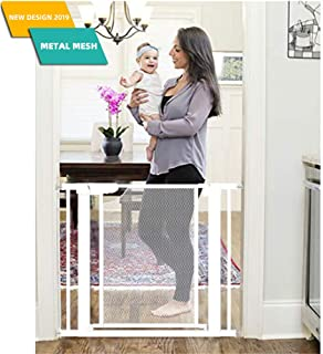 Heele Metal Mesh New Design Baby Gate Auto Close for Stairs,Extra Tall and Wide Child Gate,Extra Wide 29.52