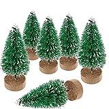 Gsyamh Árboles De Navidad Mini Modelo Nieve Árboles De Navidad De Sisal Helado Artificial Árbol De Navidad Verde Estacional Adecuado para La Decoración Navideña De La Sala De Estar y La Mesa Comedor