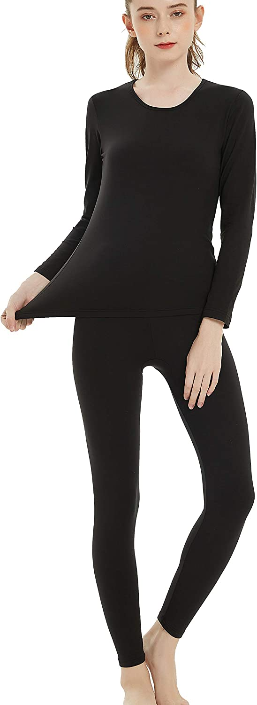 Byruze Thermal Underwear for Women Cationic Self-Heating Long Johns Women's Ultra Soft Warm Base Layer Set