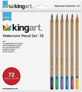 KINGART Studio Collection Watercolor Pencils, Assorted 72 Piece
