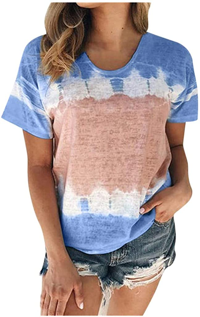 AODONG Womens Tank Tops, Womens Casual Summer Tank Top Fashion Gradient Printed Vest Tshirt Sleeveless Tunic Tee Blouse