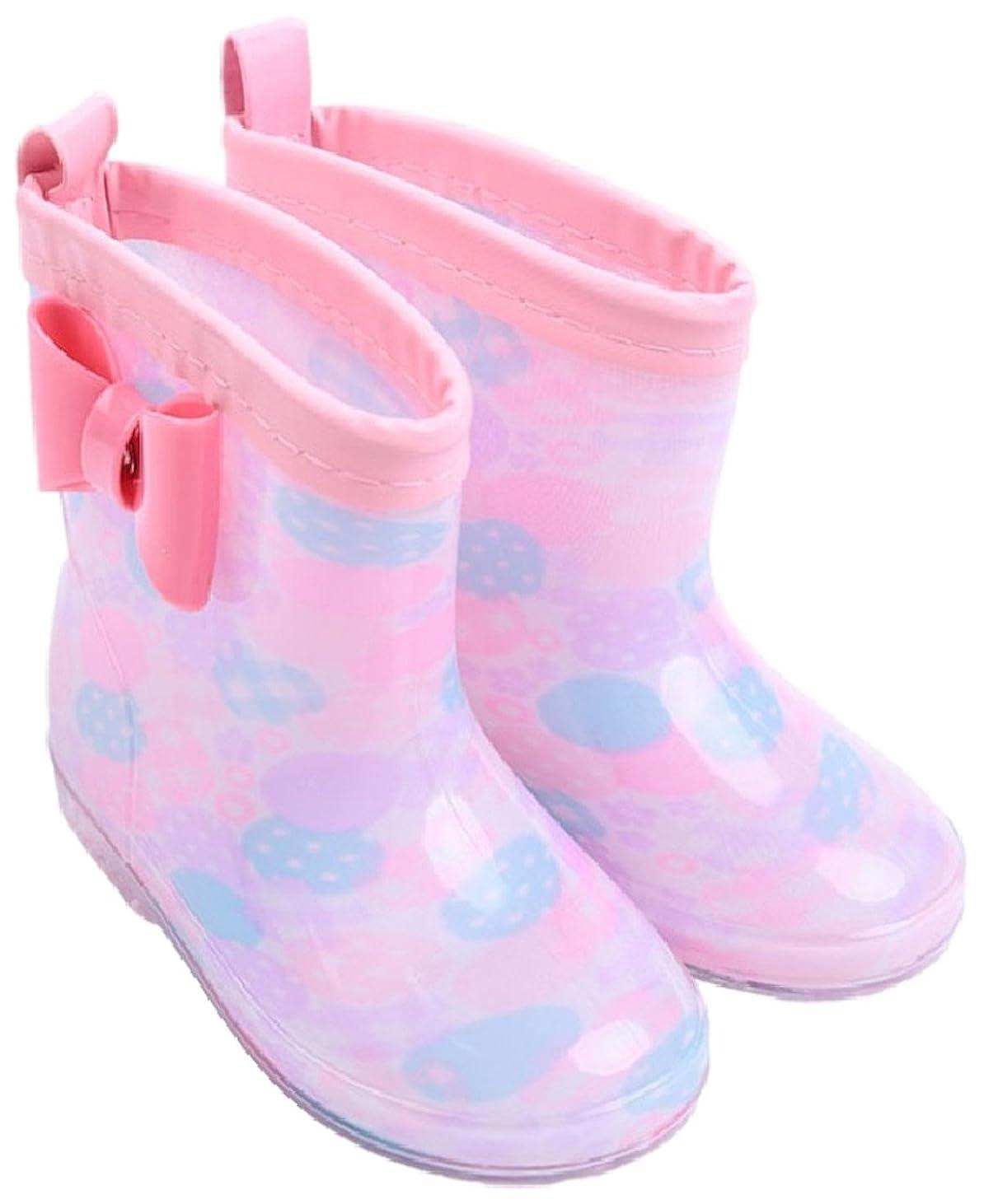 スケッチ補体ベール[ココマリ] 女の子 レインブーツ 長靴 レイン シューズ ブーツ 雨靴 キッズ 子供