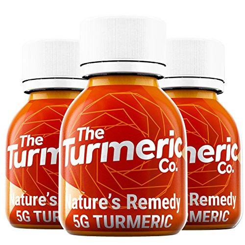 The Turmeric Co. Original - Original Turmeric Shot – Cold Pressed Tasty Turmeric Drink – 5g Turmeric Per Shot - Turmeric Supplement – Turmeric Shots – Turmeric Products - (Box of 9)