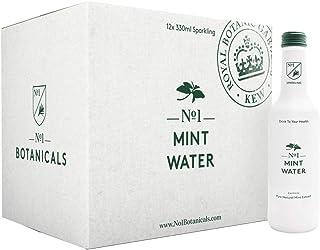 No.1 Botanicals Agua Aromatizada con Menta – Agua con Gas con Extracto Orgánico de Menta - Sin azúcar ni Edulcorantes – Soft Drink o Cocktail Mixer (12 x 330ml)