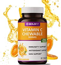 Boldfit Vitamin C With Zinc Chewable Tablets 500mg - Immunity Booster for Men, Women & Kids Antioxidant & Skin Support (Delicious Tangy Orange Flavour) - 30 Vegetarian Tablets