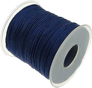 My-Bead 90m Nylonband Kordel 1mm blau Königsblau wasserfest Nylonschnur Top Qualität Schmuckherstellung basteln DIY Grundpreis 0.13 Cent je Meter