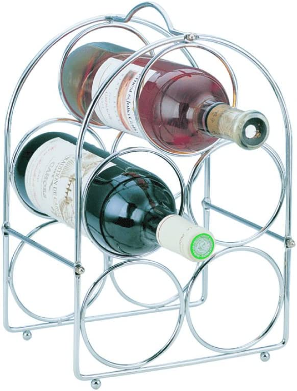 Apollo 5-Bottle Self Assemby Time sale Chrome Rack Wine Free shipping on posting reviews
