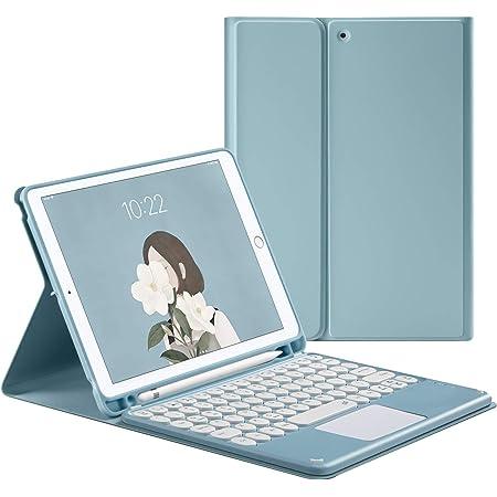 HaoHZ Funda Teclado para iPad Air 3a Generación 10.5/Pro 10.5, Teclado Desmontable con Panel Táctil - Portalápices Incorporado,Azul,iPad Air 3/Pro ...