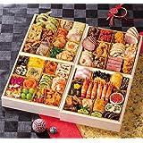 北海道 北のシェフ おせち料理 2021 和洋中肉 与段重 57品 盛り付け済み 冷凍おせち 5人前~6人前 お届け日:12月30日