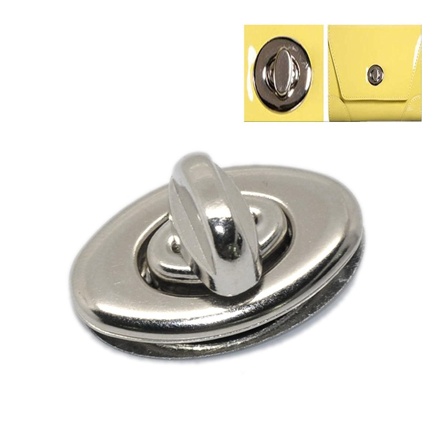 小さな失弾丸Housweetyアクセサリーパーツ用ロック ひねり金具 バッグ 留め具 10セット 4点セット3.5cm x3.3cm 銀色