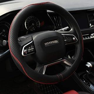 Sponsored Ad - Rueesh Microfiber Leather Steering Wheel Cover Anti-Slip Matte Finish Auto Car Wheel Cover Universal 15 Inc...