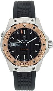 TAG Heuer Men's WAJ2150.FT6015 Aquaracer Calibre 5 Automatic 500M Gold Bezel Watch